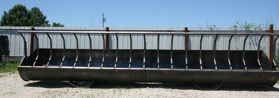 Rolled Steel Feed Bunks Fenceline Feed Bunks Portable